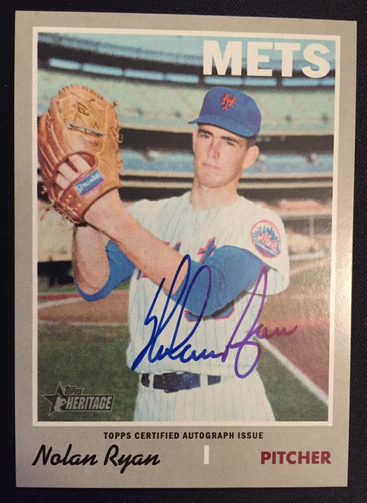 2019 Topps Heritage Real One Blue Autograph #ROA-NR Nolan Ryan