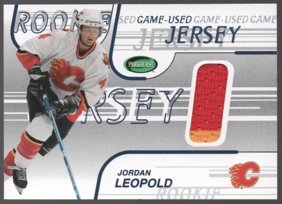 2002-03 In the Game Parkhurst Game-Used Jerseys #GJ-55 Jordan Leopold
