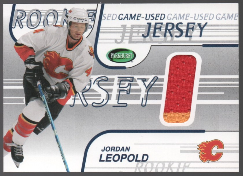 2002-03 In the Game Parkhurst Game-Used Jerseys #GJ-55 Jordan Leopold
