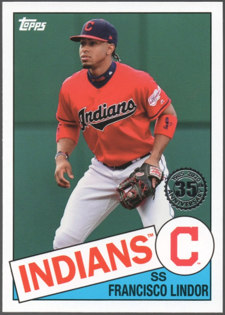 2020 Topps Series 1 1985 Topps 35th Anniversary #85-39 Francisco Lindor