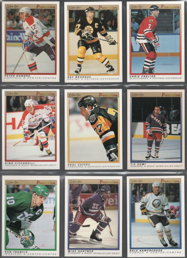 1990-91 O-Pee-Chee Premier set needs