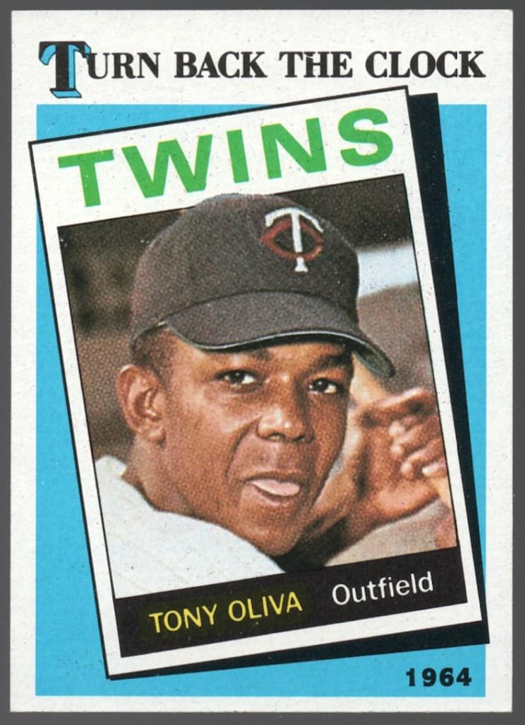 1989 Topps #665 Tony Oliva (No Copyright Line)