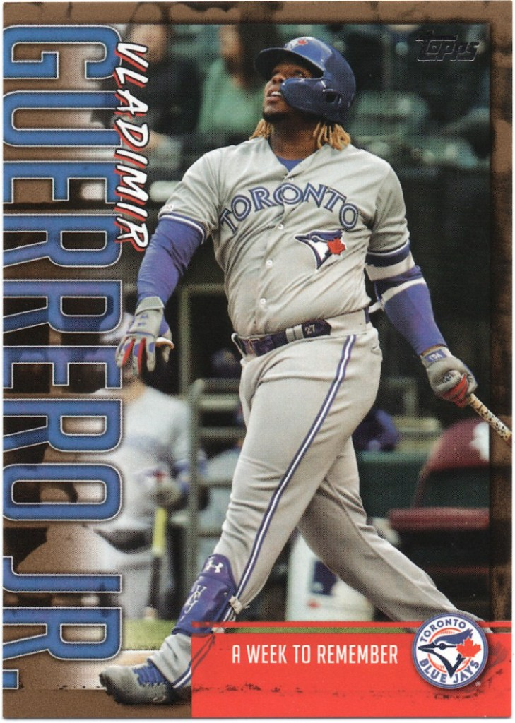 2020 Topps Series 1 Player Highlights Vladimir Guerrero Jr. Gold #VGJ-8 /50