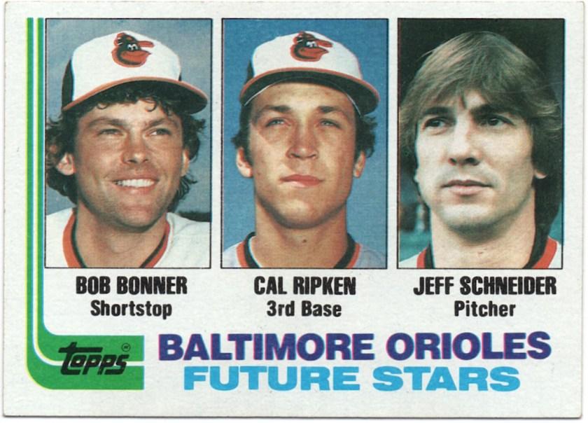 1982 Topps #21 Bob Bonner / Cal Ripken / Jeff Schneider