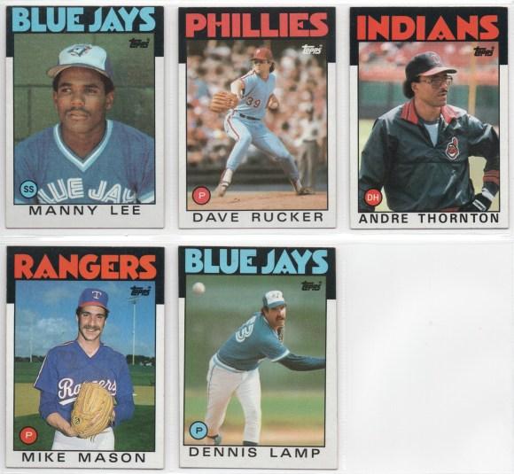 1986 Topps Set Needs