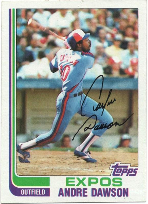 1982 Topps #540 Andre Dawson