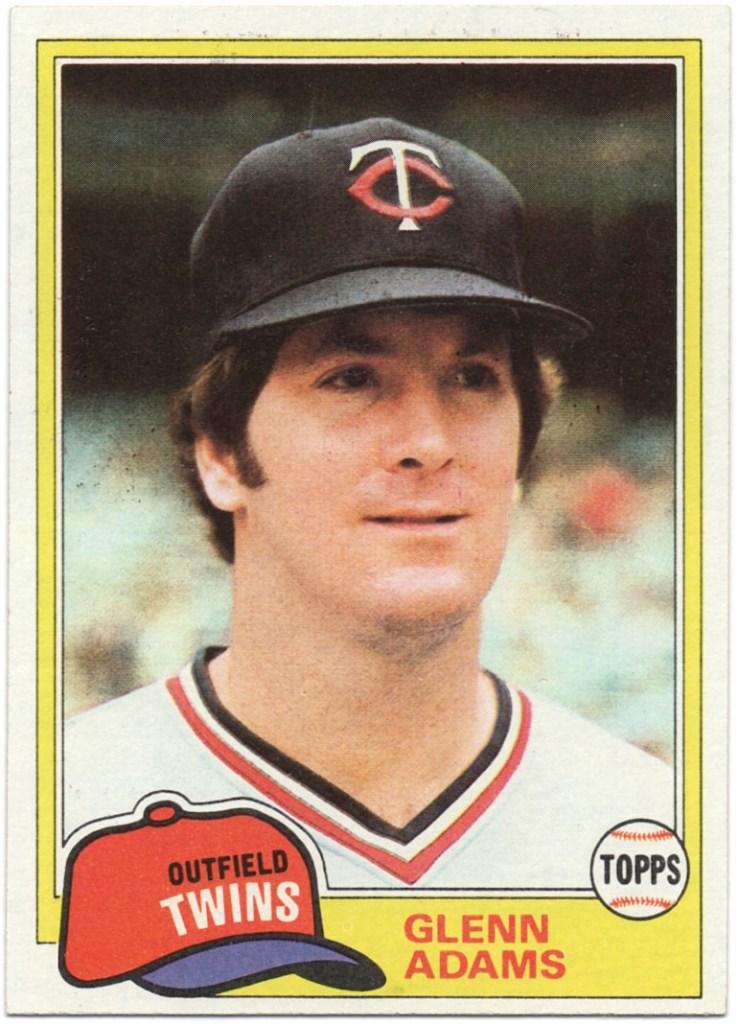 1981 Topps #18 Glenn Adams