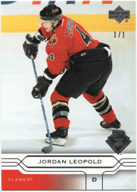 2019-20 Upper Deck Buybacks - 2004-05 Upper Deck #28 Jordan Leopold /1