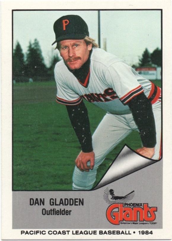 1984 Cramer Phoenix Giants #17 Dan Gladden