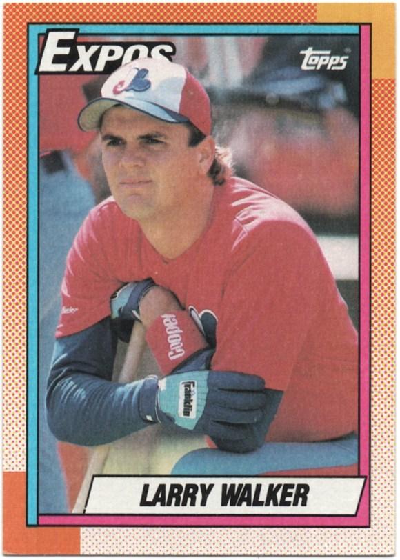 1990 Topps #757 Larry Walker