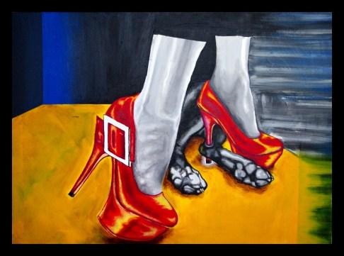 Acrylic paint on canvas. Inspired by short story by Lala Drona https://basedonafact.wordpress.com/words/