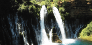 View of Burney Falls in California