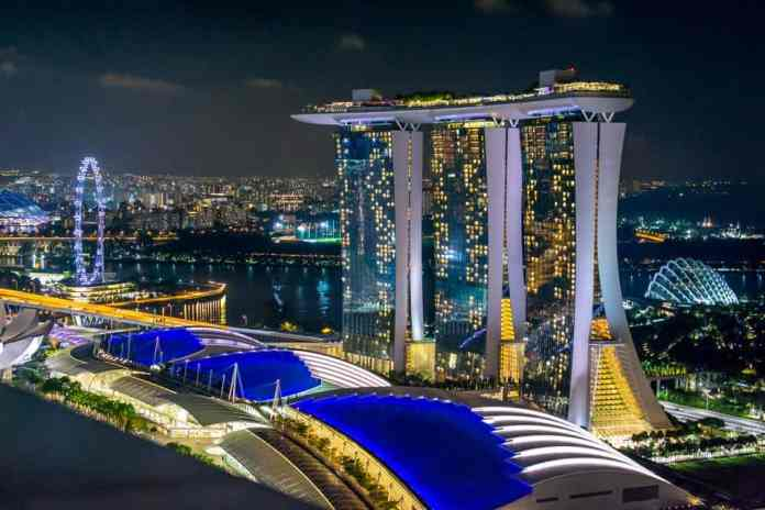 View of Marina Bay, Singapore From Level 33. Photo by Heather Olsen Marx