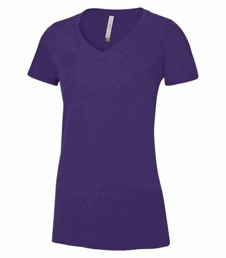 ATC EUROSPUN RING SPUN V-NECK LADIES' TEE ATC8001L