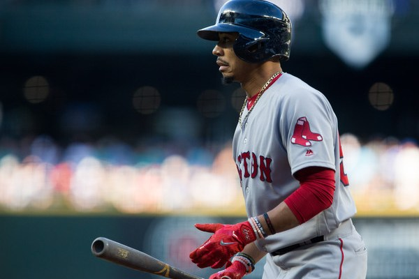 Mookie Betts , Red Sox. (Source: Lindsey Wasson/Getty Images North America) via Zimbio