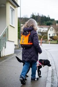 Basel und Region - Ein Blindenführhund mit einer Sehbehinderten Person | auf baselundregion.ch