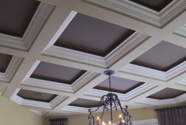 Ceiling soffit types basement finish design for Coffered ceiling styles