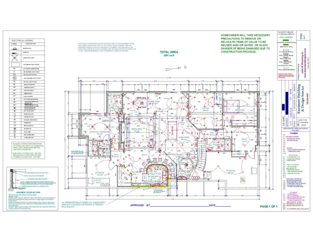 Basement finishing plan for Basement finishing floor plans
