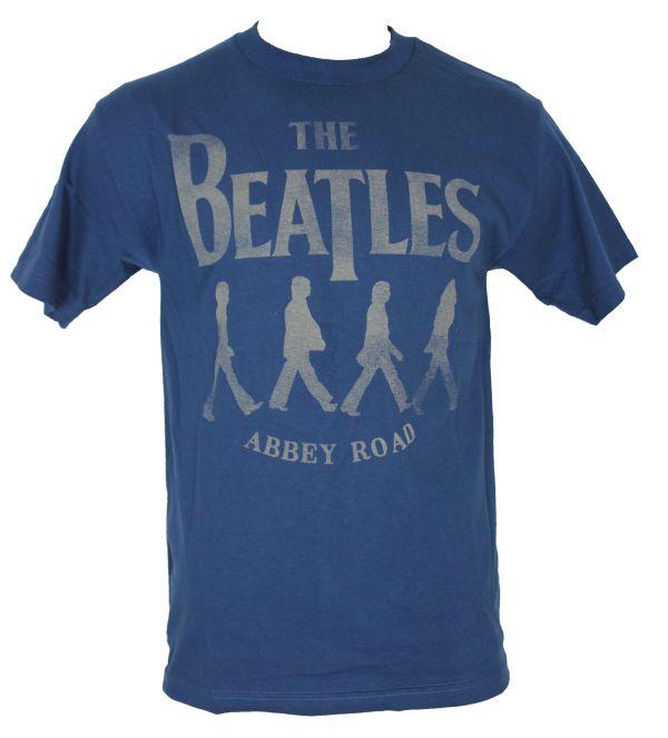 Beatles Mens T Shirt Classic Abbey Road Cream