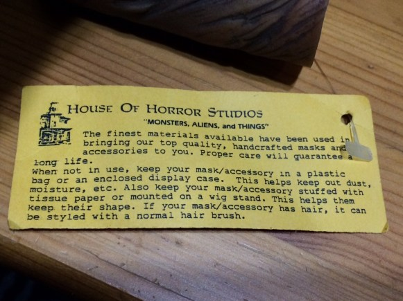 The original tag, still attached.