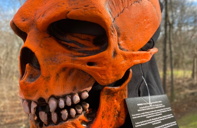 MONSTROUS MASK REVIEWS: Death Skull Mask in UV Orange by Zagone Studios