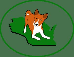 Basenji Club of Southeastern Wisconsin Logo Red & White