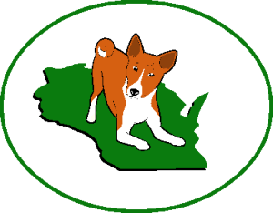 Basenji Club of Southeastern Wisconsin Logo Red & White