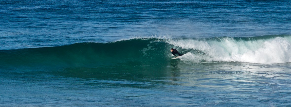 Base Surf Lodge Manager Rob getting barrelled.