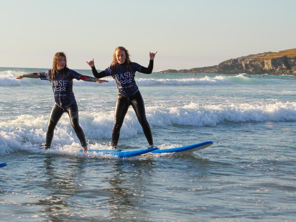surfer girls - base surf lodge, newquay