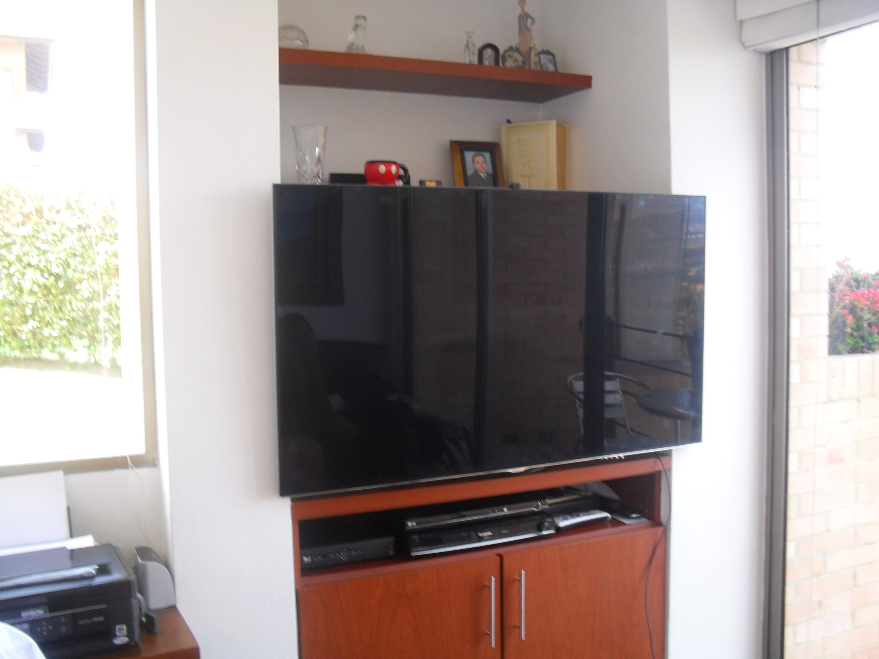 Mueble Tv Pared Empotrar Tv Led Lcd En Closet Armario Mueble Y Biblioteca Con