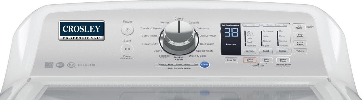 Crosley Professional Top Load Washer Dryer Set Model Ytw4514snws Ytd74e2snws Basham S