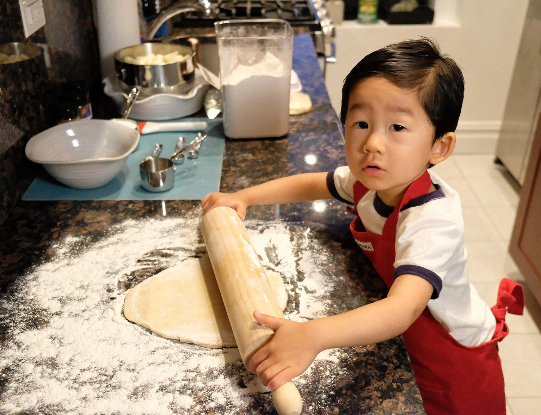 Toddler Baking Apple Pie 3