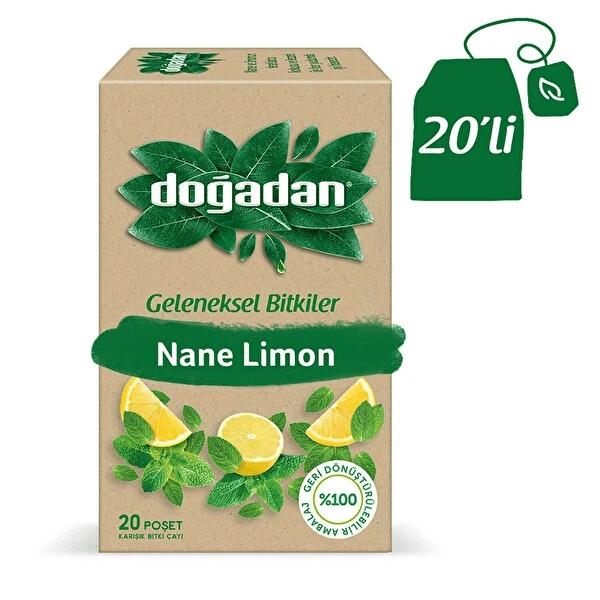 علبة شاي ليمون بالنعناع 20 كيس دوغادان