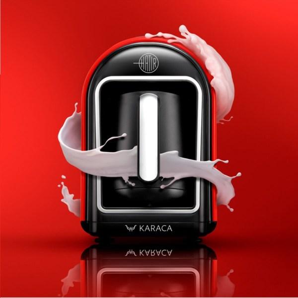 ماكينة قهوة karaca تركية لصنع القهوة التي تستطيع تحضير 5 أكواب من القهوة في مرة واحدة ، الأولى والوحيدة في العالم بميزة تحضير القهوة التركية ومشروبات أخرى