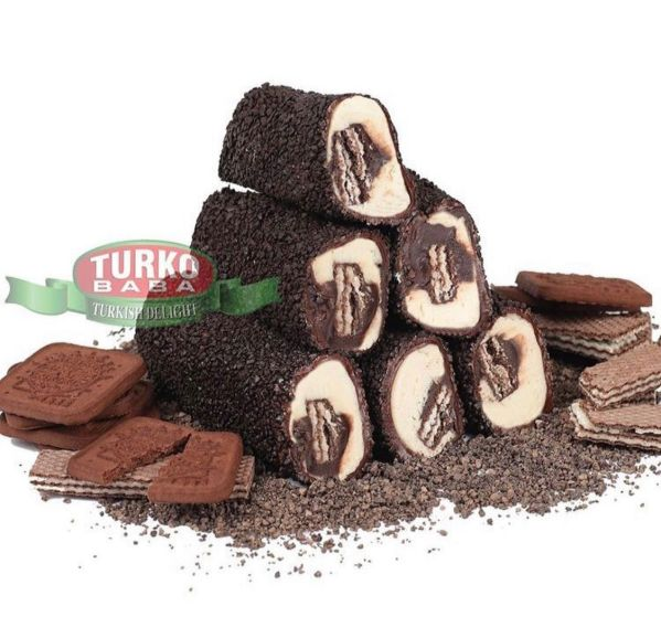 حلقوم تركي بالشوكولا واللوز مغطاة بكرات الشوكولا 1 كيلو شحن سريع لكل دول العالم في ثلاثة إلى خمسة أيام عمل من قصر الباشا لباب منزلك