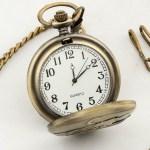 ساعة جيب تراثية عتيقة بسلسلة 200 غرام