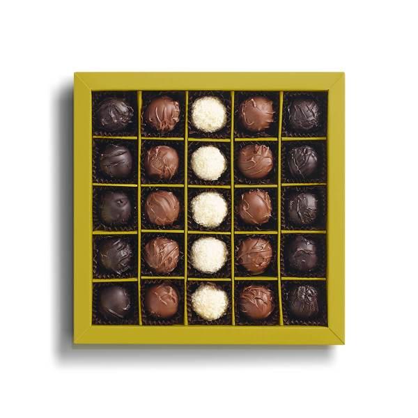 شوكولاته ترافلز 350 غرام قهوة دنياسي 25 قطعة