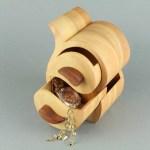 صندوق مجوهرات خشبي طبقتين