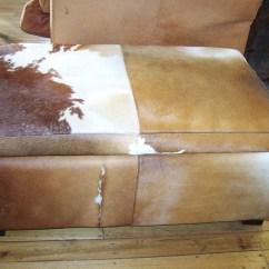 French Bedroom Chair Nz Tan Leather Cowhide Ottoman At Bashford Antiques
