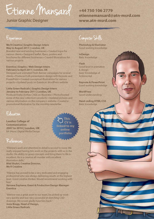 30 Great Examples Of Creative CV Resume Design – Web