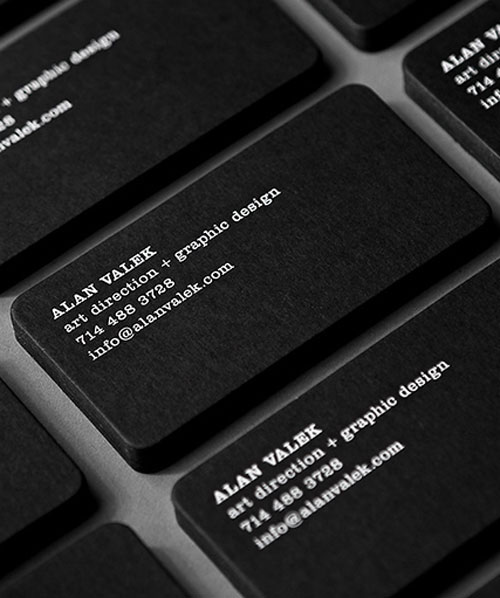 25 Outstanding Black Business Cards Web & Graphic Design