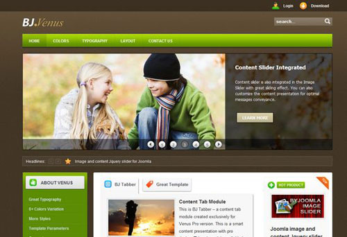 content management system website templates free