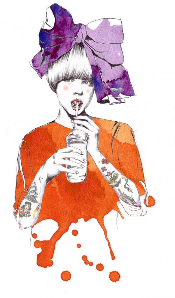 10 Beautiful  Inspiring Fashion Illustrations  Web  Graphic Design  Bashooka