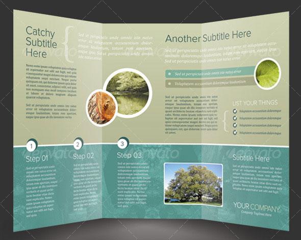 14 Creative 3 Fold Photoshop Indesign Brochure Templates
