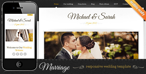 7 Elegant HTML Wedding Website Templates  Web  Graphic Design  Bashooka