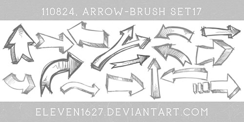 100+ High Resolution Arrow Photoshop Brushes