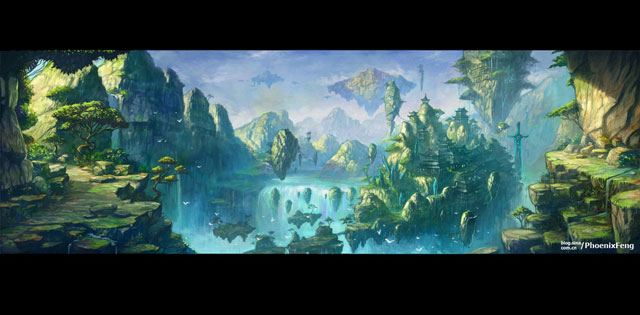Fall Town Wallpaper 35 Fantastic Illustrations Of Fantasy Landscapes Web