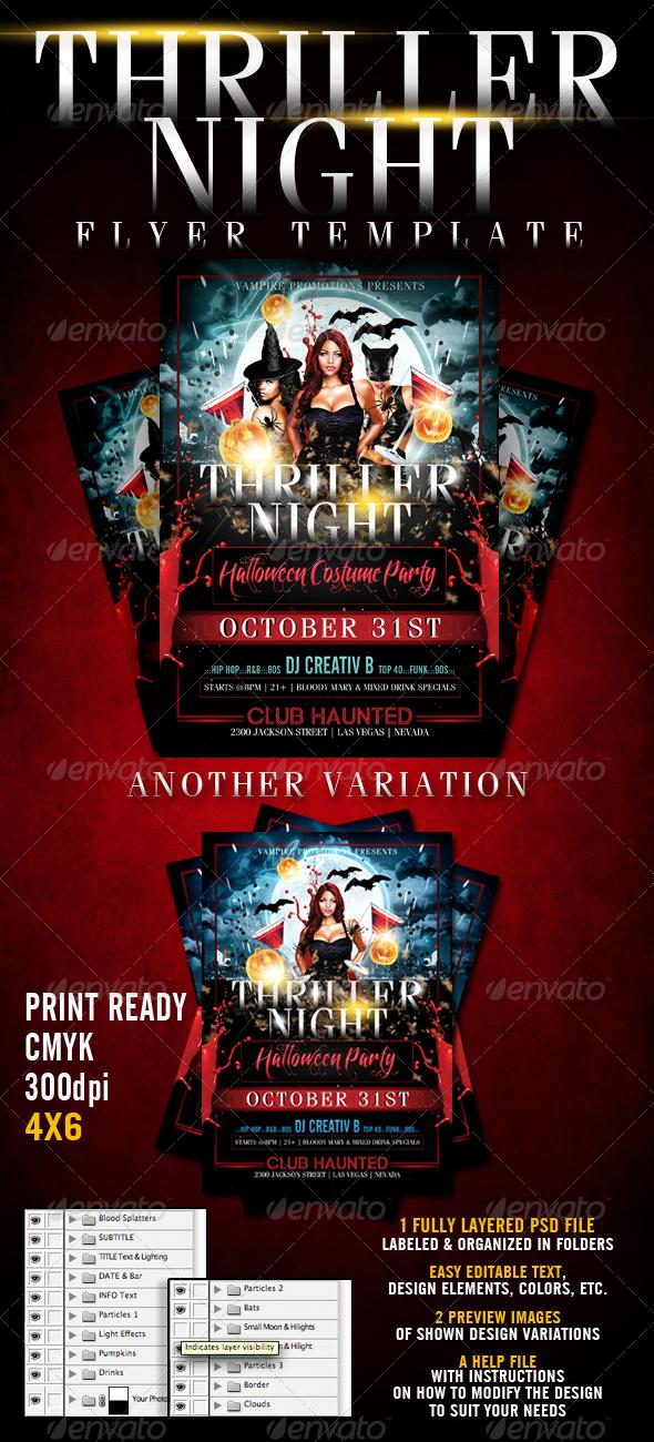 halloween background flyer