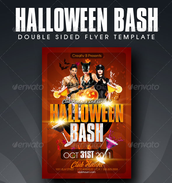 23 Wicked Halloween PSD Flyer Templates Web & Graphic