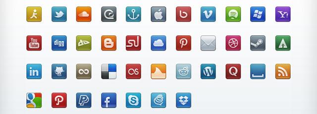 200 Free PSD Social Media Icon Sets  Web  Graphic